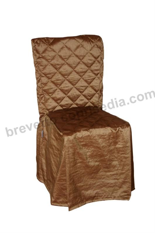 Coprisedia Universale tessuto Taftà Stropicciato Bronzo