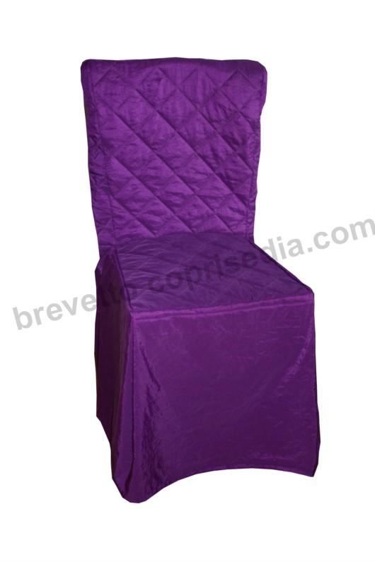 Coprisedia Universale tessuto Taftà Stropicciato Viola